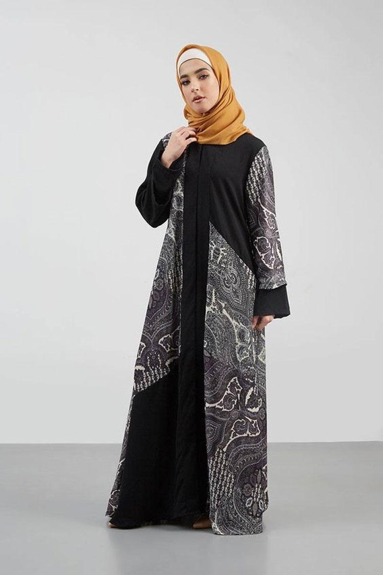 Gamis Kombinasi Batik