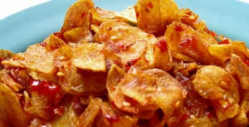resep keripik kentang pedas