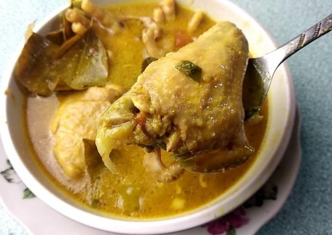 resep opor ayam kuning tanpa santan